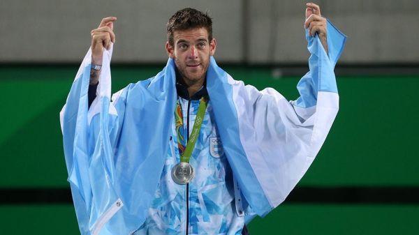 tenis Medalla de plata para Juan Martín Del Potro
