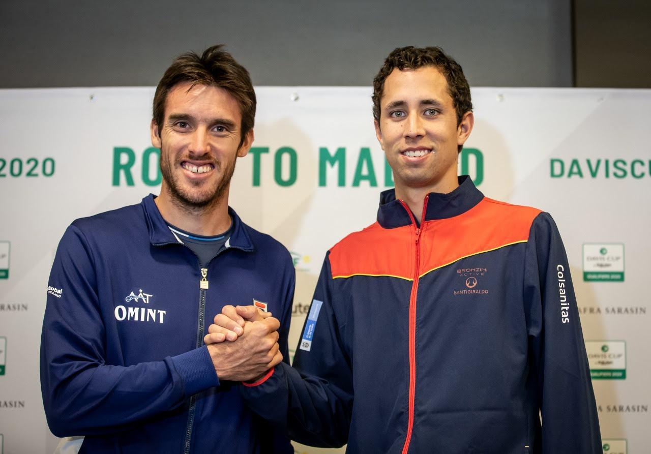 Leo Mayer en el sorteo de Copa Davis, enfrentara al colombiano Galan