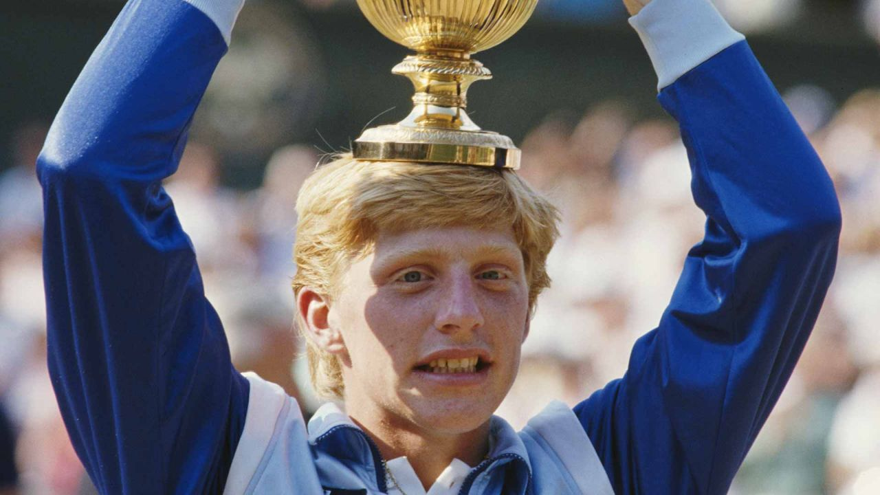 jovenes ganadores grand slam boris becker campeon wimbledon 1985
